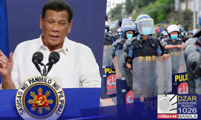 Pangulong Duterte, ibinigay ang kredito sa pulisya at militar sa pagsira sa maraming communist front