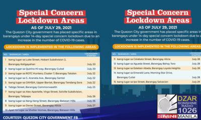 Nadagdagan pa ang bilang ng mga lugar sa Quezon City na isinailalim sa Special Concern Lockdown Areas (SCLA).