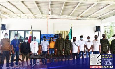 Sumuko ang 9 na miyembro ng Abu Sayyaf Group sa tropa ng gobyerno sa Indanan, Sulu.