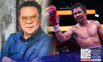 May payo ngayon si Narvacan Ilocos Sur Mayor Chavit Singson sa kaibigan nitong si Sen. Manny Pacquiao kaugnay sa political plans nito sa 2022.