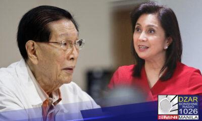 Kinontra ni Dating SP Enrile ang pahayag ni Vice President Leni Robredo na suspendihin ang pondo ng NTF-ELCAC at gamitin bilang ayuda