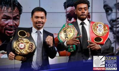 Kanselado na ang paghaharap sa loob ng ring nina Manny Pacquiao at unified welterweight champion Errol Spence sa Agosto 21.