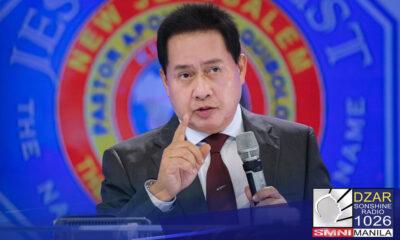 Dismayado si Pastor Apollo C. Quiboloy, executive pastor ng The Kingdom of Jesus Christ kay Senator Manny Pacquiao.