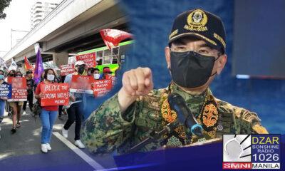 Nagbabala si PNP chief Police General Guillermo Eleazar sa grupo na nagpaplano na magsagawa ng kilos-protesta laban sa vaccination program ng gobyerno.