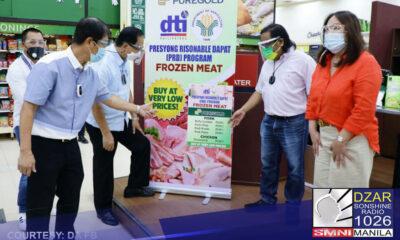 Ipinagmalaki ng Department of Trade and Industry (DTI) at Department of Agriculture (DA) na makakabili na ng murang frozen meat products ang mga konsyumer sa mga supermarket.