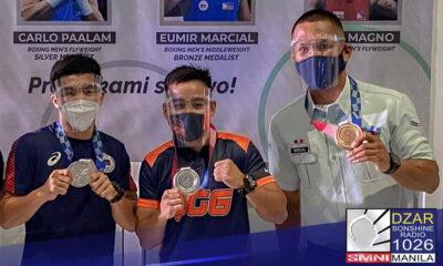 Bibigyang pugay ng Mababang Kapulungan ng Kongreso ang mga boksingerong nag-uwi ng medalya sa katatapos lamang na Tokyo 2020 Olympics