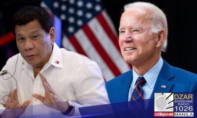 """Pinasalamatan ni Pangulong Rodrigo """"Roa"""" Duterte si American President Joe Biden at iba pang Amerikano dahil sa ibinigay nito na donasyon sa Pilipinas."""