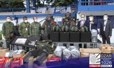 Anti-terrorism equipment at sasakyan, ibinigay ng US sa PNP