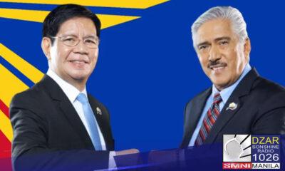 Pormal ng ipinakilala sa publiko ang tambalang Lacson at Sotto para sa darating na halalan 2022.