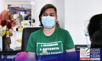 Nangunguna pa rin si Davao City Mayor Sara Duterte sa mga posibleng presidential candidates na iboboto ng mga Pilipino sa 2022 election.