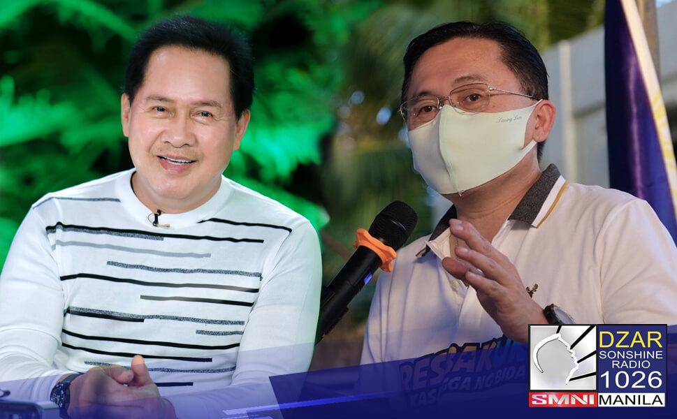 """Kinilala at pinasalamatan ni Senator Christopher """"Bong"""" Go ang suporta ni Pastor Apollo C. Quiboloy, laban sa insurhensiya sa bansa."""