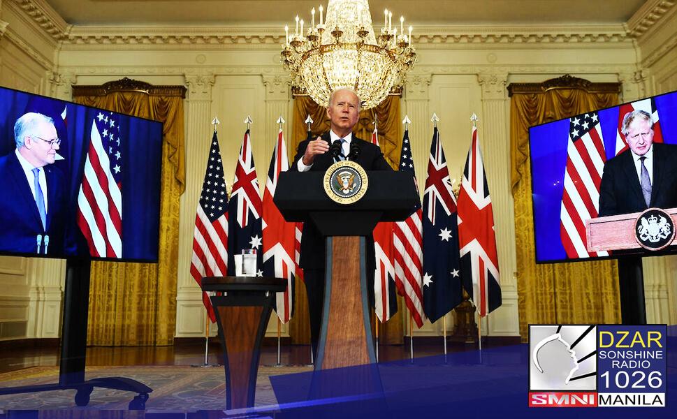 Bumuo ng Special Security Pact ang mga bansang United Kingdom, United States at Australia para labanan ang China.