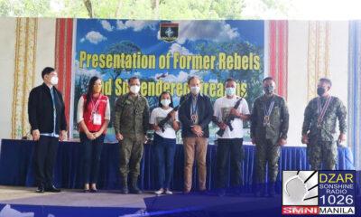Bilang bahagi ng pagbabalik-loob sa gobyerno, tumanggap ng reintegration assistance ang 12 dating rebelde mula lokal na pamahalaan ng Bukidnon.