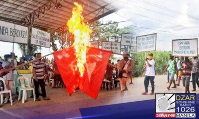 Nagtipon-tipon ang iba't ibang grupo ng mga magsasaka sa Silay Negros Occidental upang kondenahin ang CPP NPA NDF sa kanilang lugar