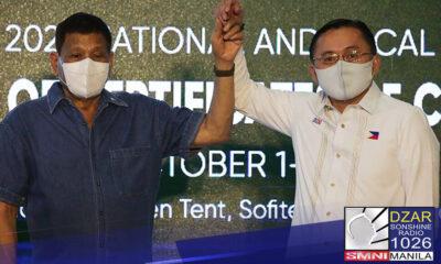Binawi ni Pang. Rodrigo Roa Duterte ang kanyang balak na pagtakbo bilang bise presidente sa 2022 general elections
