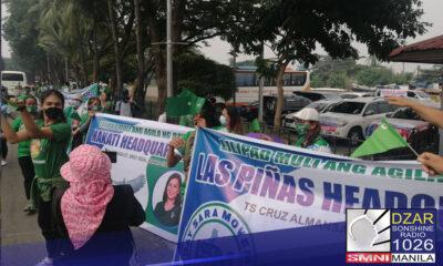 Dumagsa sa Harbour Square sa Malate, Manila ang mga taga-suporta ni Davao City Mayor Inday Sara Duterte.