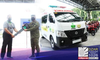 Tumanggap ang Armed Forces of the Philippines (AFP) ng ambulansya at mga sasakyan mula sa Armed Forces and Police Mutual Benefit Association, Incorporated (AFPMBAI).