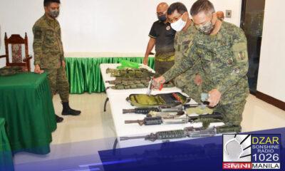 Nasamsam ng militar ang isang low-powered at apat na high-powered firearms matapos ang security operations sa Pikit, Cotabato