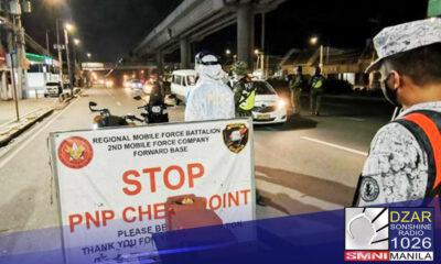 Mas maikli na ang curfew hours sa National Capital Region (NCR) simula bukas, Oktubre 13.