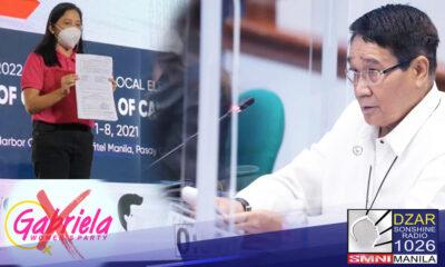 Tiwala si NTF-ELCAC Vice Chairman Secretary Hermogenes Esperon Jr. na madidiskwalipika ang Gabriela party-list para sa susunod na halalan dahil sa mga kasong isinampa laban ditto.